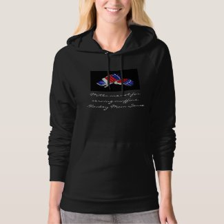 Mitts are not for serving muffins black apparel hoodie