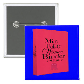 Mitt's Binders Full of Women Binder 2 Inch Square Button