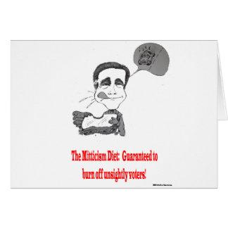 Mitt's Daily Diet Greeting Card