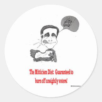 Mitt's Daily Diet Classic Round Sticker