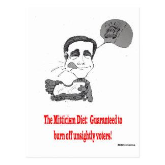 Mitt's Daily Diet Postcard