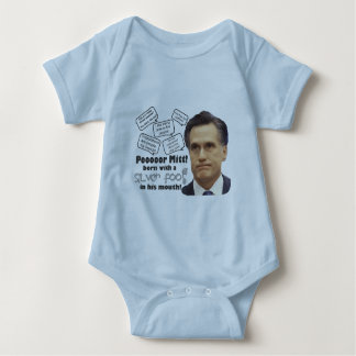 Mitt's Silver Foot in Mouth Baby Bodysuit