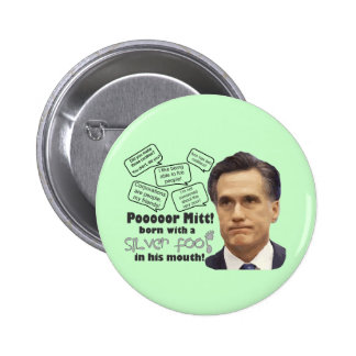Mitt's Silver Foot in Mouth Button
