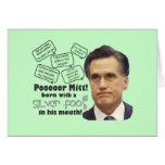 Mitt's Silver Foot in Mouth Greeting Card