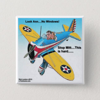 Mitts Windowless Airplane Funny Gifts & Tees Button
