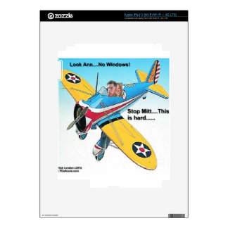 Mitts Windowless Airplane Funny Gifts & Tees iPad 3 Decal