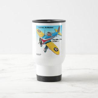 Mitts Windowless Airplane Funny Gifts & Tees Travel Mug