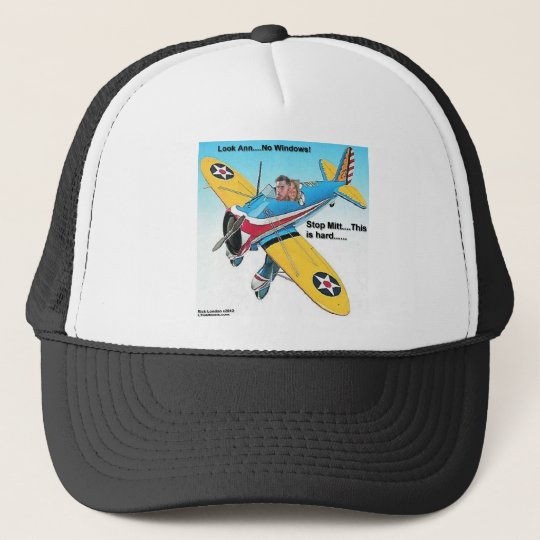 Mitts Windowless Airplane Funny Gifts & Tees Trucker Hat