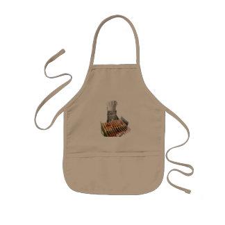 Mitzi as a chef apron