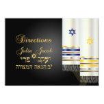 Mitzvah de las direcciones/talit/bnai de invitación 11,4 x 15,8 cm