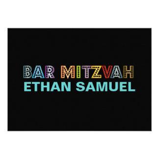 Mitzvah de neón de la barra de PixDezines Comunicado Personal