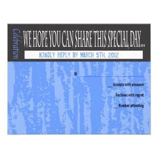 MITZVAH REDACTA la tarjeta de contestación del pal Comunicado Personal