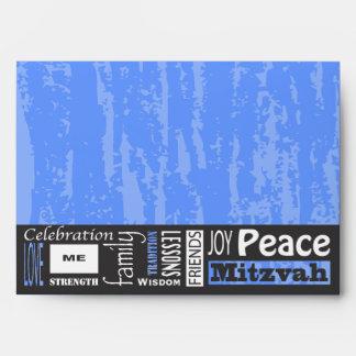 MITZVAH WORDS SAYINGS Bar Bat Custom Envelope