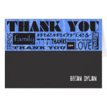 MITZVAH WORDS SAYINGS Bar Bat Thank You Card