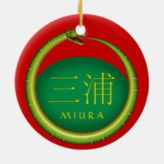 Miura Monogram Snake Ceramic Ornament