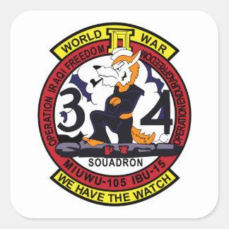 MIUWU-105 IBU-15 Mobile Inshore Underwater Warfare Square Sticker