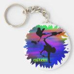 mix2, capoeira basic round button keychain