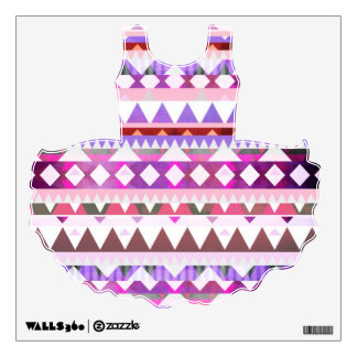 Mix #538 - Tutu Dress Pink Tribal Wall Decal