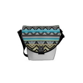 Mix #76 Double Size - Blue Aztec Bag #2