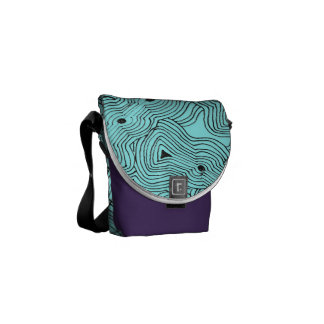 Mix and Match Color Ant Hill Abstract Messenger Bag