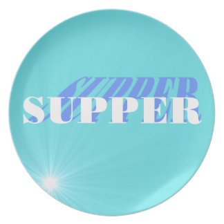 Mix and Match Tiffany Blue Supper Plate