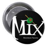 mix - circle magnet black button