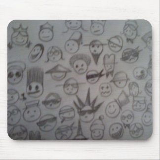 Mix emotions 02 mouse pad