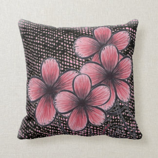 Mix Fabric and Flowers Collage Throw Pillow