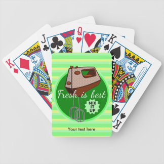 Mix it up Hand Mixer Retro Design Bicycle Playing Cards