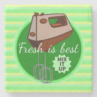 Mix it up Hand Mixer Stone Coaster