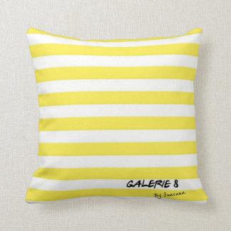 Mix & Match -Yellow - Just Stripes Throw Pillow