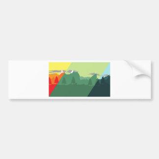 Mix Mountains Bumper Sticker