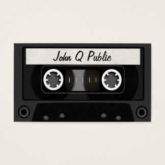 Mix Tape Black Business Card