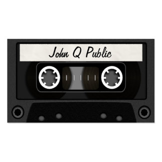 Mix Tape Black Double-Sided Standard Business Cards (Pack Of 100)