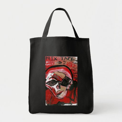 MIX TAPE DJ RED TOTE BAGS
