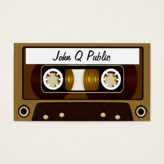 Mix Tape Gold Business Card