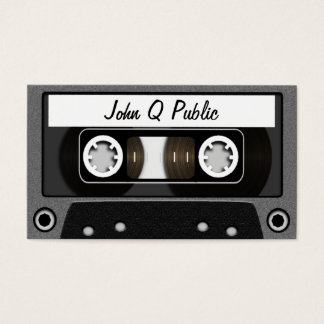 Mix Tape Grey Business Card