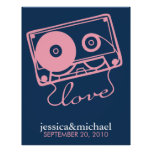 Mix Tape of Love Customizable Wall Art Posters