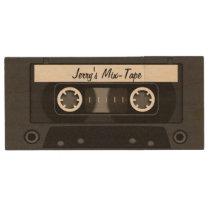Mix Tape Personalized Black Wood Flash Drive