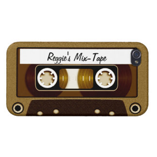 Mix Tape Personalized Gold iPhone 4/4S Case