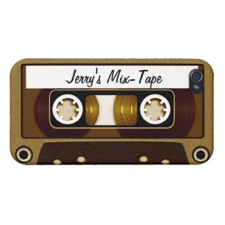 Mix Tape Personalized Gold Cover For iPhone 4