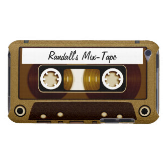 Mix Tape Personalized Gold iPod Touch Case