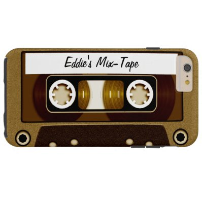 Mix Tape Personalized Gold Tough iPhone 6 Plus Case