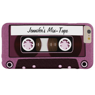 Mix Tape Personalized Pink Barely There iPhone 6 Plus Case