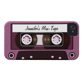 Mix Tape Personalized Pink iPhone 4 Case-Mate Cases