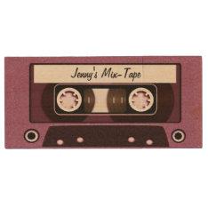 Mix Tape Personalized Pink Wood Flash Drive at Zazzle