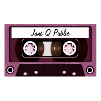 Mix Tape Pink Business Card