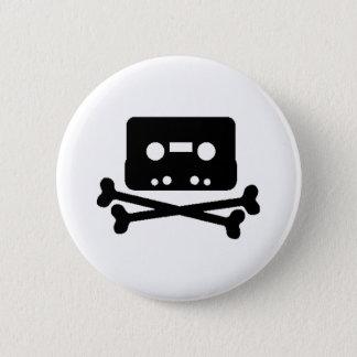Mix Tape Pirate Button
