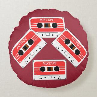Mix Tape Round Pillow