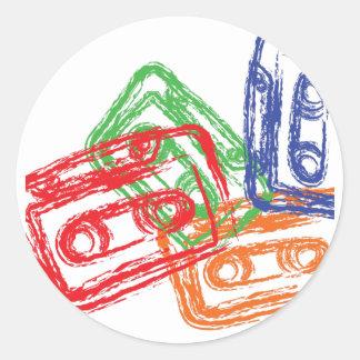 Mix Tapes - DJ Disc Jockey Classic Round Sticker